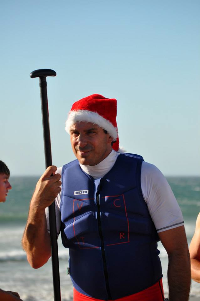 Justin Linley Stand Up Paddle Santa