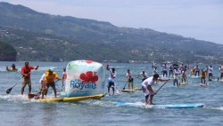 Manuia 404 Stand Up Paddle Board Race in Tahiti