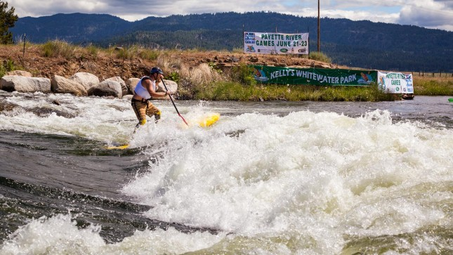 Payette River Games stand up paddle