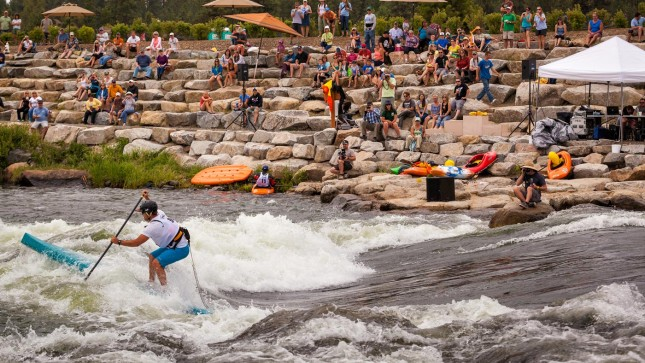 Payette River Games stand up paddleboard race