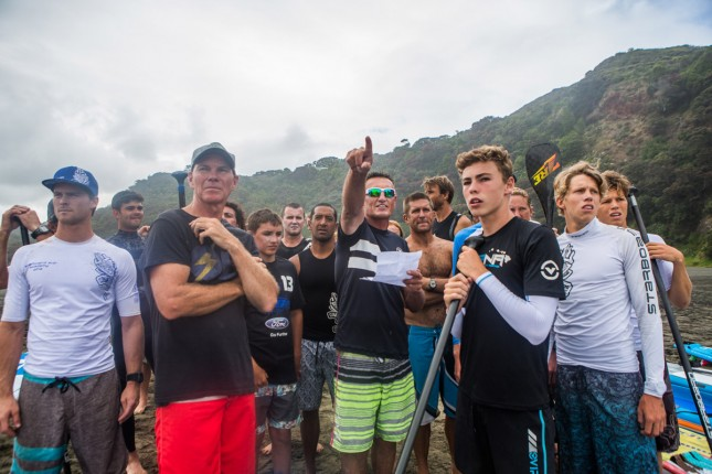 Stand Up Paddle Race Piha New Zealand