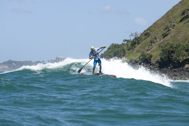 Lincoln Dews stand up paddling 12 Towers race