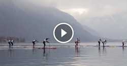 stand up paddle boarding race video france