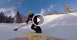 stand up paddling snow SUP