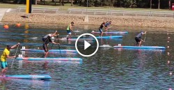 Stand Up Paddling in rowing lanes