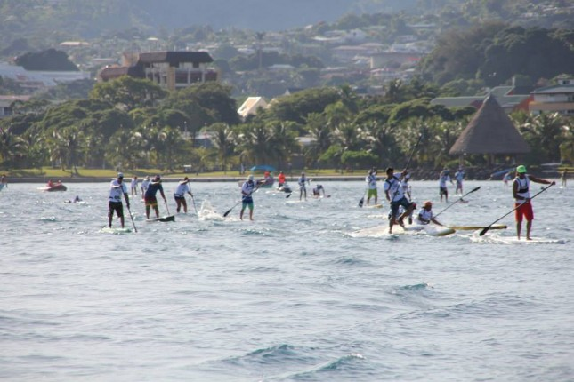 Air France stand up paddle festival Tahiti