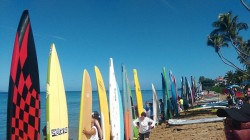 Rincon Beachboy stand up paddling race