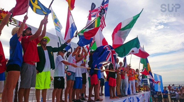 ISA Stand Up Paddle World Championship opening ceremony Sayulita Mexico