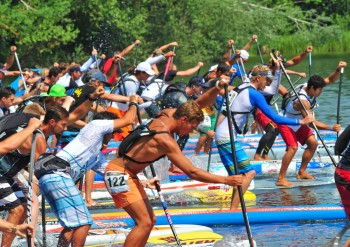 Lost Mills stand up paddle board race