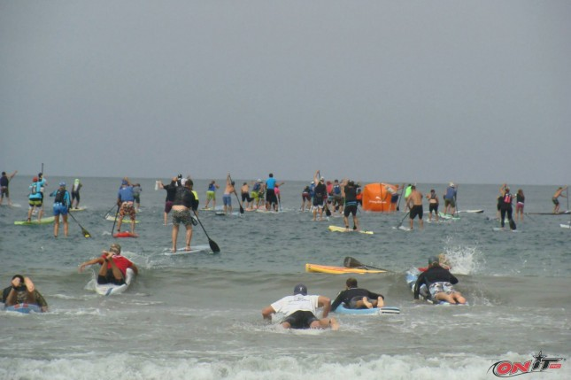 Santa Monica Pier Paddle race