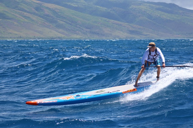 Connor Baxter on his way to a sixth straight Maui 2 Molokai crown (photo: Karen Baxter)