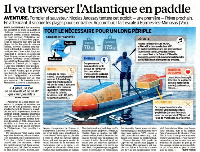 Nicolas Jarrosay Stand Up Paddle Atlantique