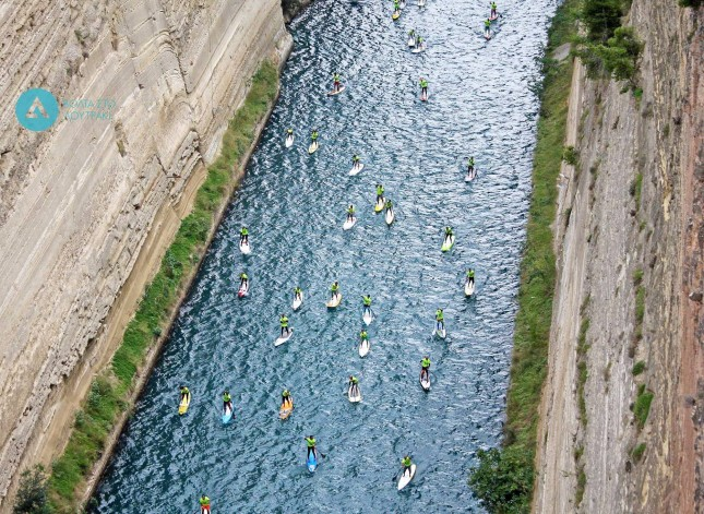 Corinth Canal SUP race Greece