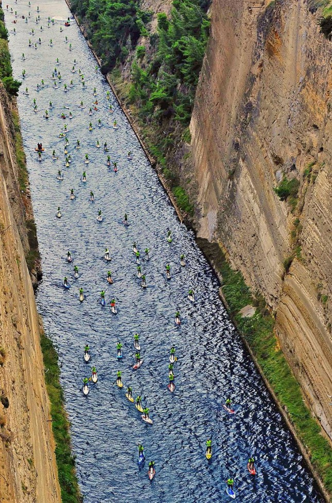 Corinth Canal stand up paddle race greece