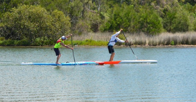 James Casey and Michael Booth leading the field at the Central Coast Saltwater Festival (photo: Denise Kane)