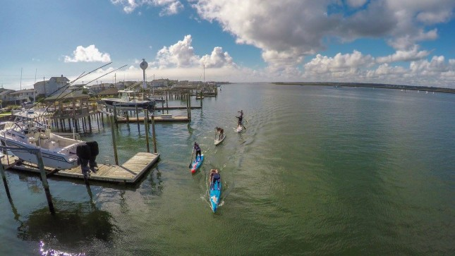Surf to Sound stand up paddle race NC