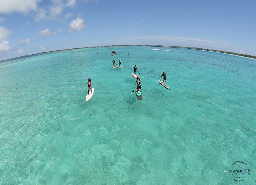 Ironmana stand up paddle race Tahiti