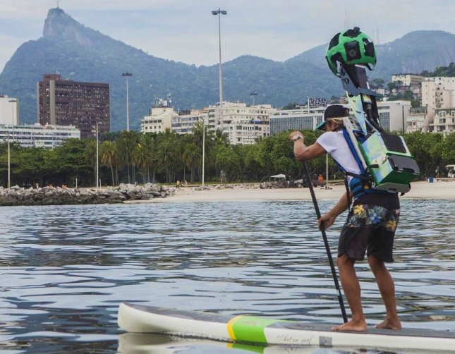 Stand Up Paddling Google Street View