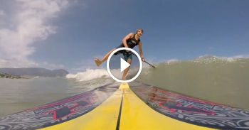 Stand Up Paddle surfing video
