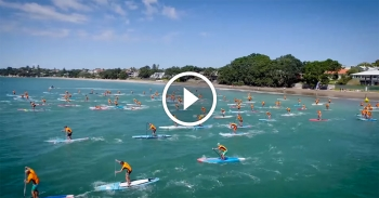 stand up paddle drone video