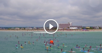 Carolina Cup paddleboard race video
