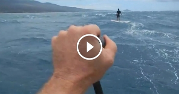 Downwind Stand Up Paddleboard Video Maui Hawaii