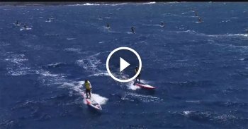 Olukai paddle race video