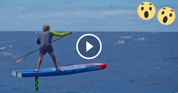 Stand Up Paddle foil boarding video