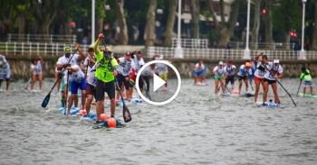 Bilbao World SUP Challenge paddleboarding video 2016
