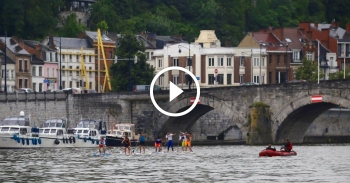 Happy Summer SUP race Namur stand up paddle boarding