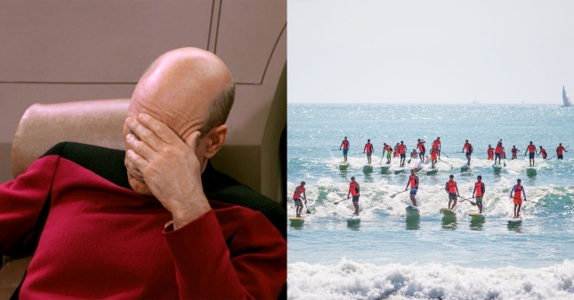 Pacific Paddle Games facepalm