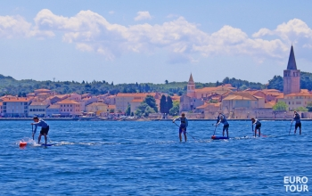 Paddleboard race Porec Croatia