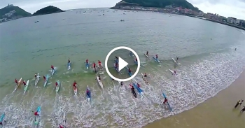 San Sebastian paddleboard race video