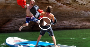 paddle board boxing video