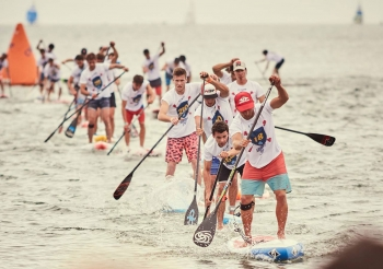 Summer Cup stand up paddleboarding race France