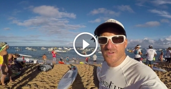 2016 Molokai 2 Oahu paddle board race video