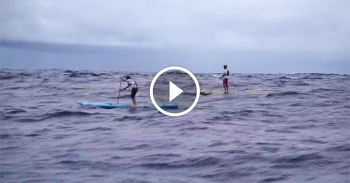 Molokai 2 Oahu paddle board race video Kai Lenny