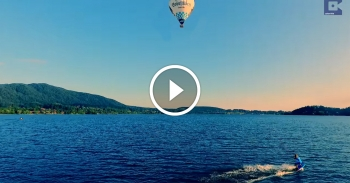hot air balloon surfing video