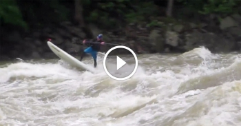 whitewater stand up paddle boarding