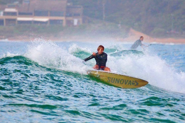 James Casey surfing the new Sunova shapes