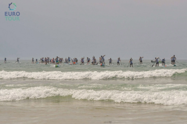 Hossegor Paddle Games paddle boarding race
