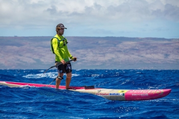 James Casey downwind stand up paddling Hawaii