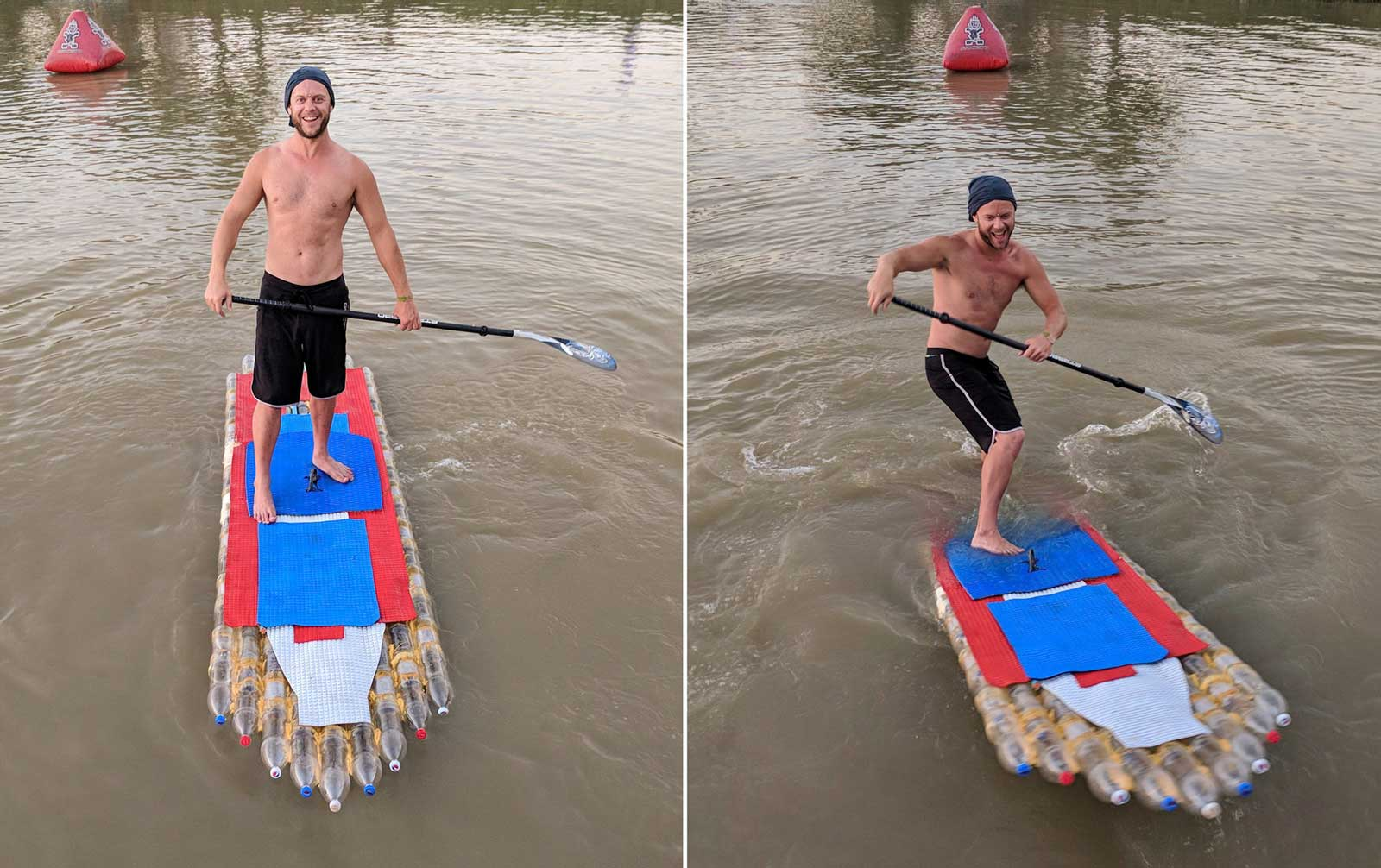 Plastic-bottle-stand-up-paddle-board